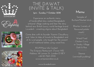 "Image of Lovedesh Dawat - ""The Invite"" & Pop Up - London, Sunday 25 November 2018"