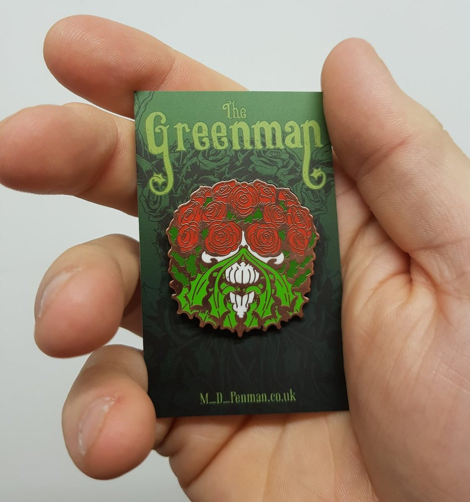 Image of Greenman Enamel Pin