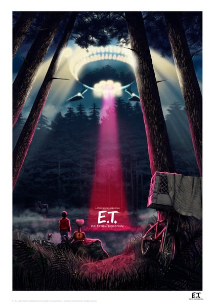 Image of E.T. Night A3 (officially licensed artist proof copies)