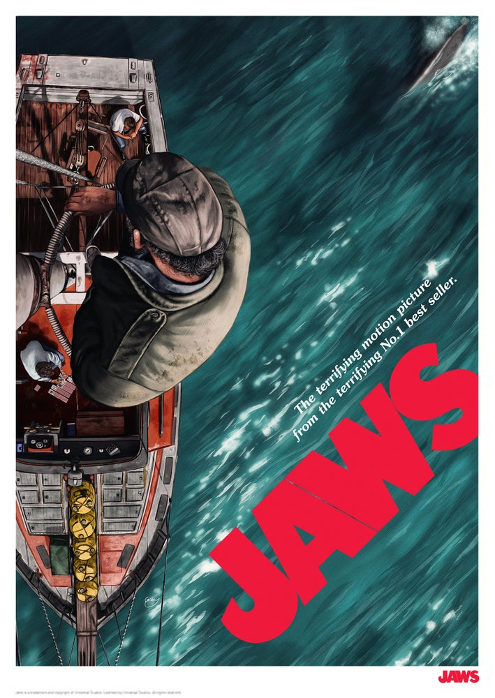 Image of Jaws A3 (officially licensed artist proof copies)