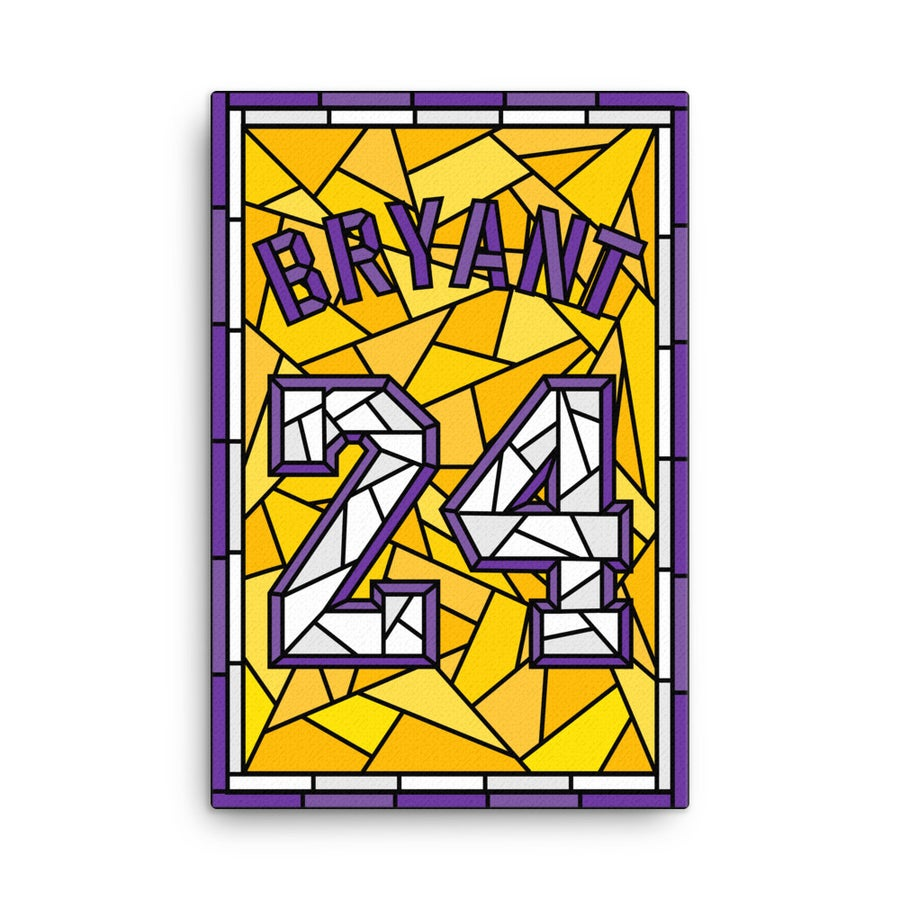 Image of Kobe Bryant Glory Days Stained Glass 24 Jersey