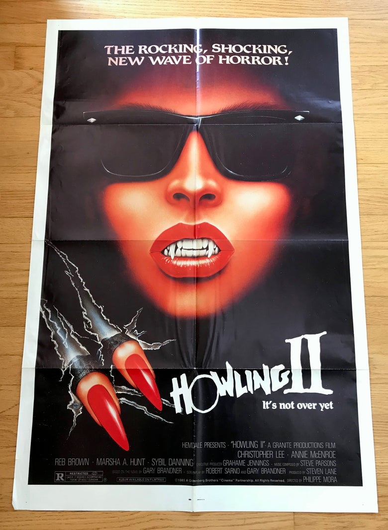 Image of 1985 HOWLING II Original U.S. One Sheet Movie Poster