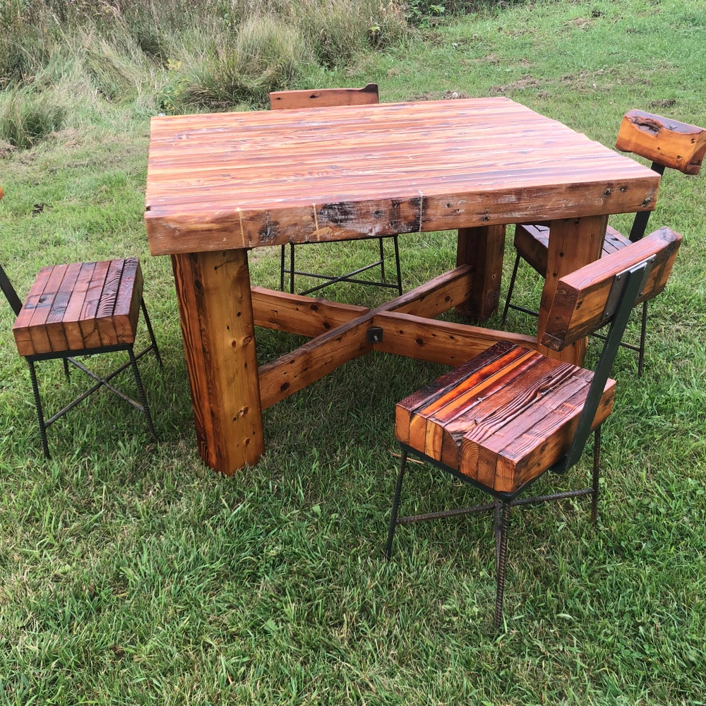 Image of 4 person dining height table