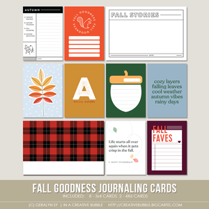 Image of Fall Goodness Journaling Cards (Digital)