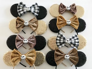Image of Mouse Ears with Mustard Velvet Bow