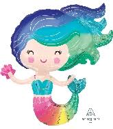 Image of {Colorful Mermaid} Mylar Balloon
