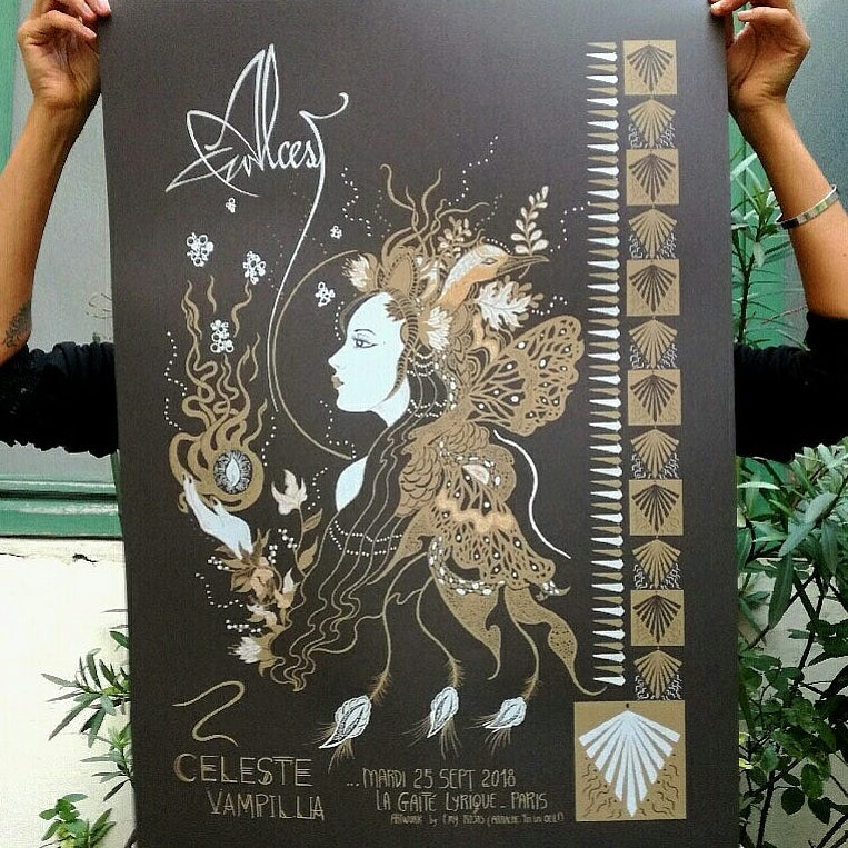 ALCEST (2018) screenprinted poster