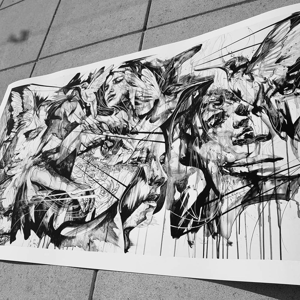 Image of The Beautiful Chaos Of The Summer Birds Song LTD EDT Print FREE WORLDWIDE SHIPPING!!!