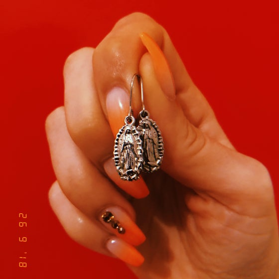 Image of Our Lady of Guadalupe earrings