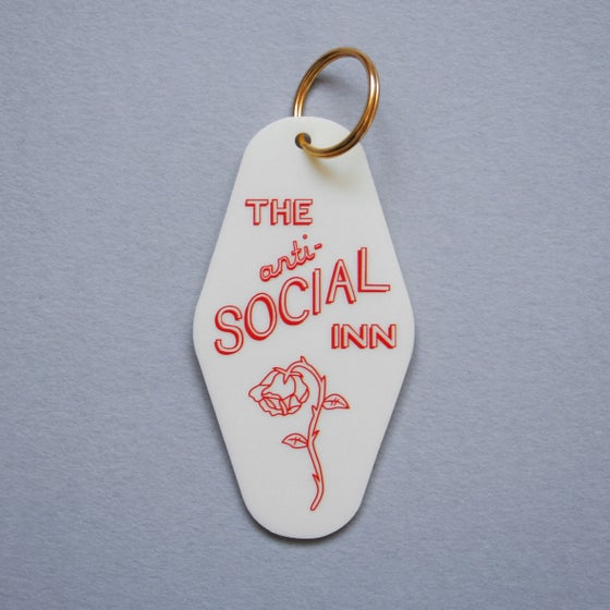 Image of 'The Anti-Social Inn' Motel Key Tag