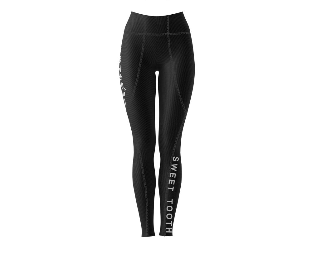 Image of Kimye's Workout Leggings Black w/ 3m reflect