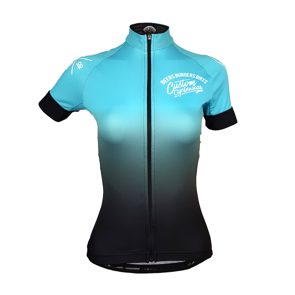 Image of Teal Fade Jersey - Women's Cut