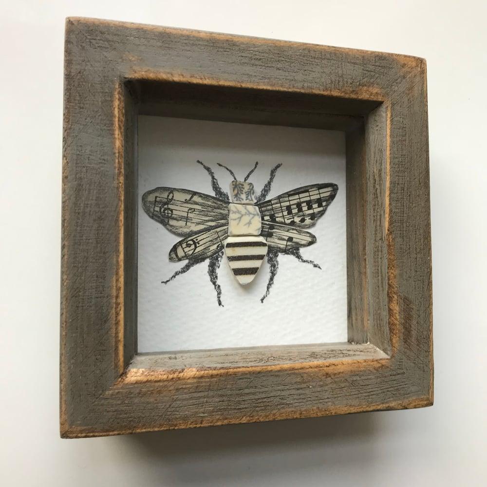 Image of Handmade Bee Mudlark Collage Frame by The Mudlark