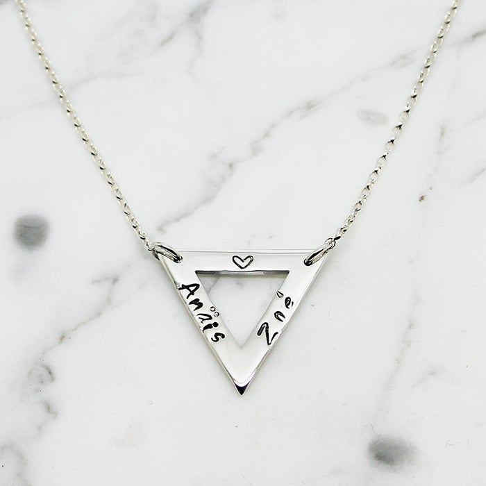Image of Personalised Triangle Necklace