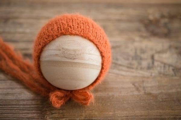 Image of Pumpkin Brushed Alpaca Bonnet {LIMITED!!}