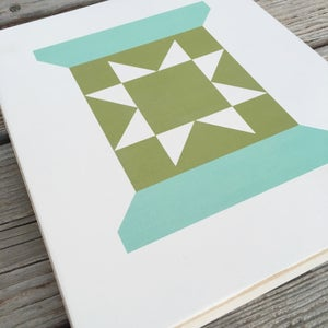 Image of GREEN Spool - B&C Wood Barn Quilt