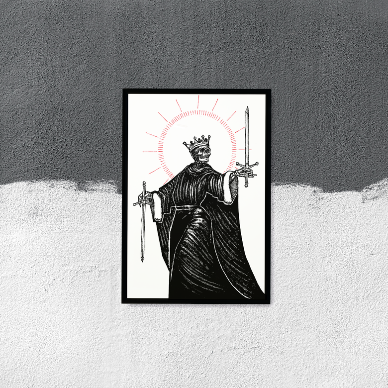 "Image of LIMITED EDITION RUN OF 5, ""Two of Swords"", 13""x19"""