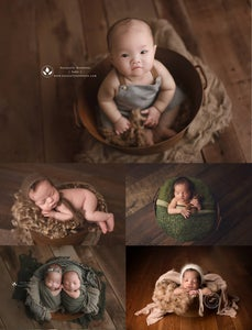 Image of RUST Oval Metal Tub - Newborn Sitter - Photography Prop - FREE SHIPPING w/in US!