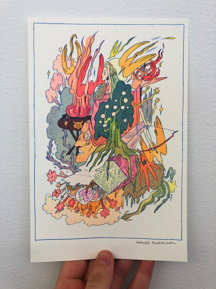 Image of 'Iron Song' Small Riso Print