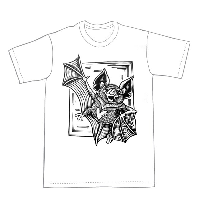 Cute bat T-shirt  (B2) **FREE SHIPPING**