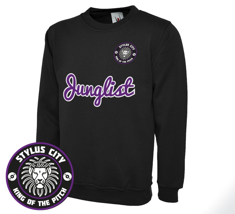 Image of 'Junglist' Crewneck (Black/Purple)