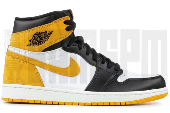 "Image of Nike AIR JORDAN 1 RETRO HIGH OG ""BEST HAND - YELLOW OCHRE"""