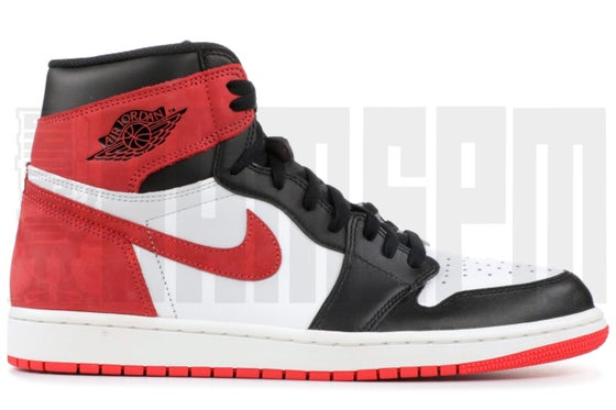 "Image of Nike AIR JORDAN 1 RETRO HIGH OG ""BEST HAND - TRACK RED"""