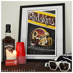 Image of JEREMY WORST Redskins Artwork Signed Poster Print poster Washington football nfl