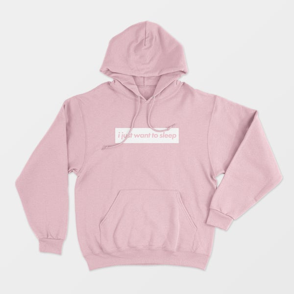 """Image of PRE-ORDER the """"i just want to sleep' Pink Hoodie"""