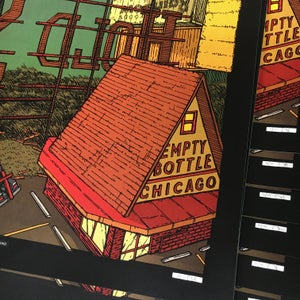 "Image of The Hold Steady (Empty Bottle, Chicago) • Limited Edition Official Poster (18"" x 24"")"
