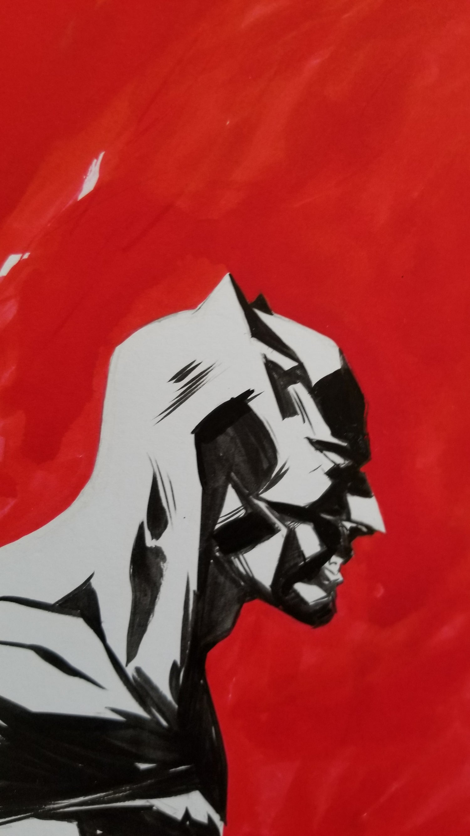 Image of Batman in the red