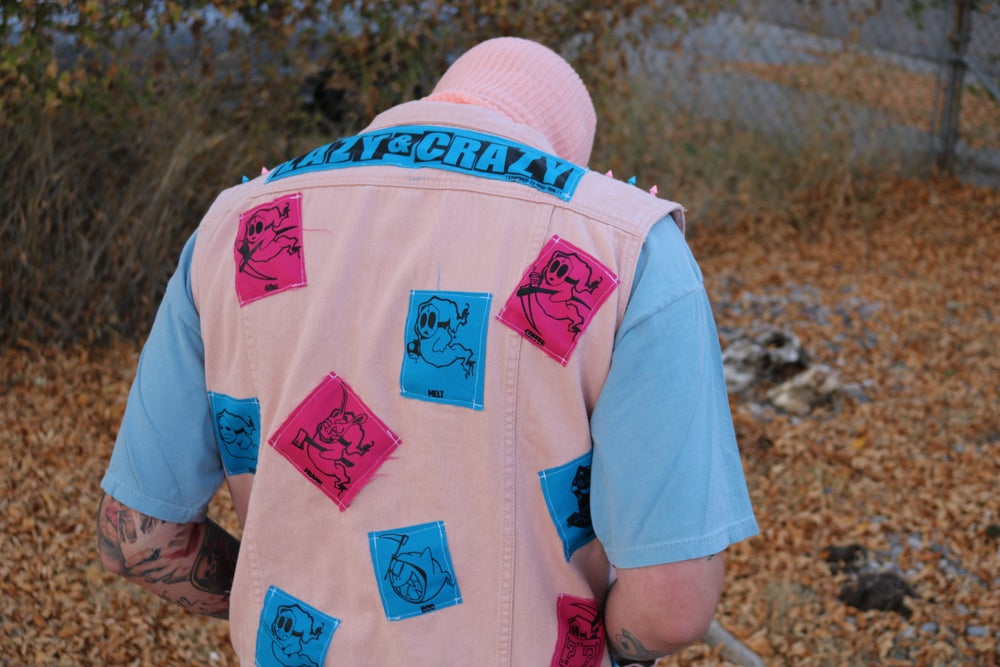 Image of 1/1 XL/XXL COTTON CANDY LAZIEN CRAYZ VEST