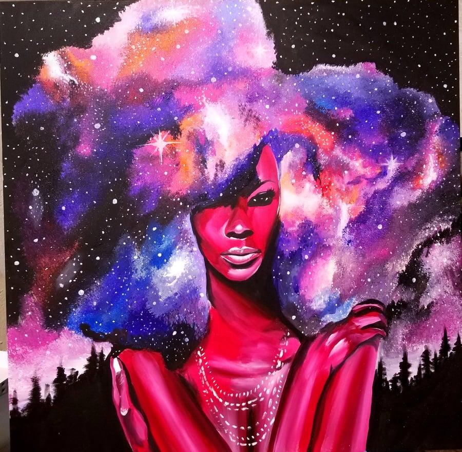 Image of Star Goddess - Canvas Prints