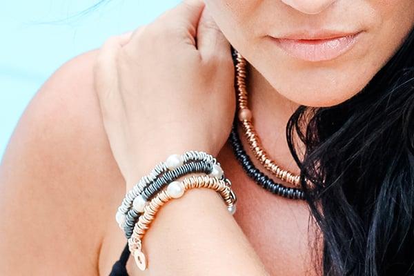 Image of Armband Elba Rosevergoldet