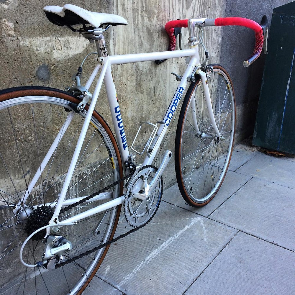 Image of 'Ron Cooper'. Reynolds 653.  47cm seat ,50cm top tube