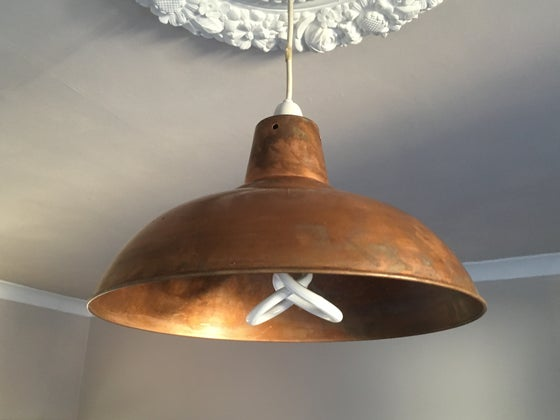 Image of Industrial Factory Style Copper Shades