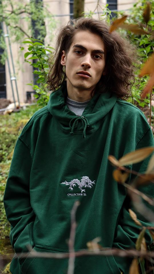 Image of Dragon Hoodie Green