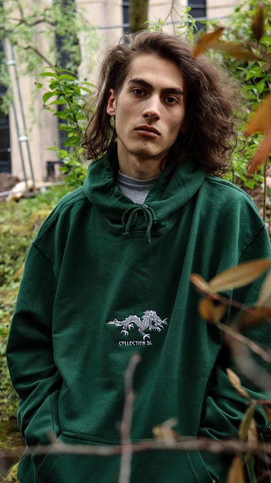 Image of Dragon Hoodie Green