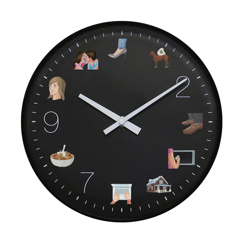 "Image of ""Bei Piedini"" Wall Clock"