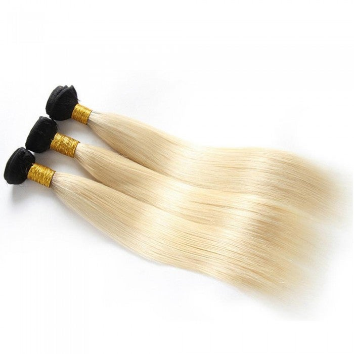 Image of 16-24 Inch Ombre Hair #1B/613 Straight
