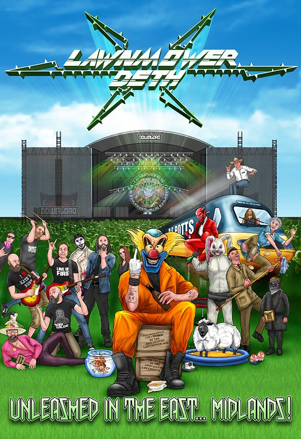 Image of LAWNMOWER DETH - UNLEASHED IN THE EAST.... MIDLANDS DVD/CD and EXCLUSIVE T SHIRT COMBO OFFER!