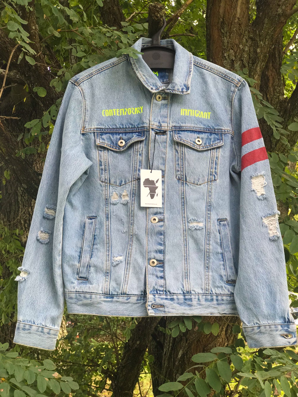 Image of PRE-ORDER CONTEMPORARY IMMIGRANT DENIM JACKET(UNISEX)