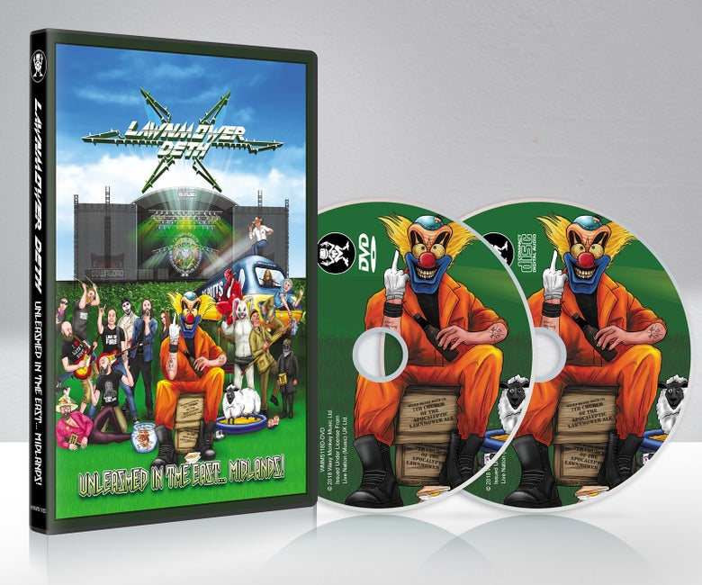 Image of LAWNMOWER DETH - UNLEASHED IN THE EAST.... MIDLANDS DVD/CD