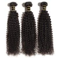 Image of 10-30 Inch Kinky Curly Virgin Brazilian Hair #1B Natural Black