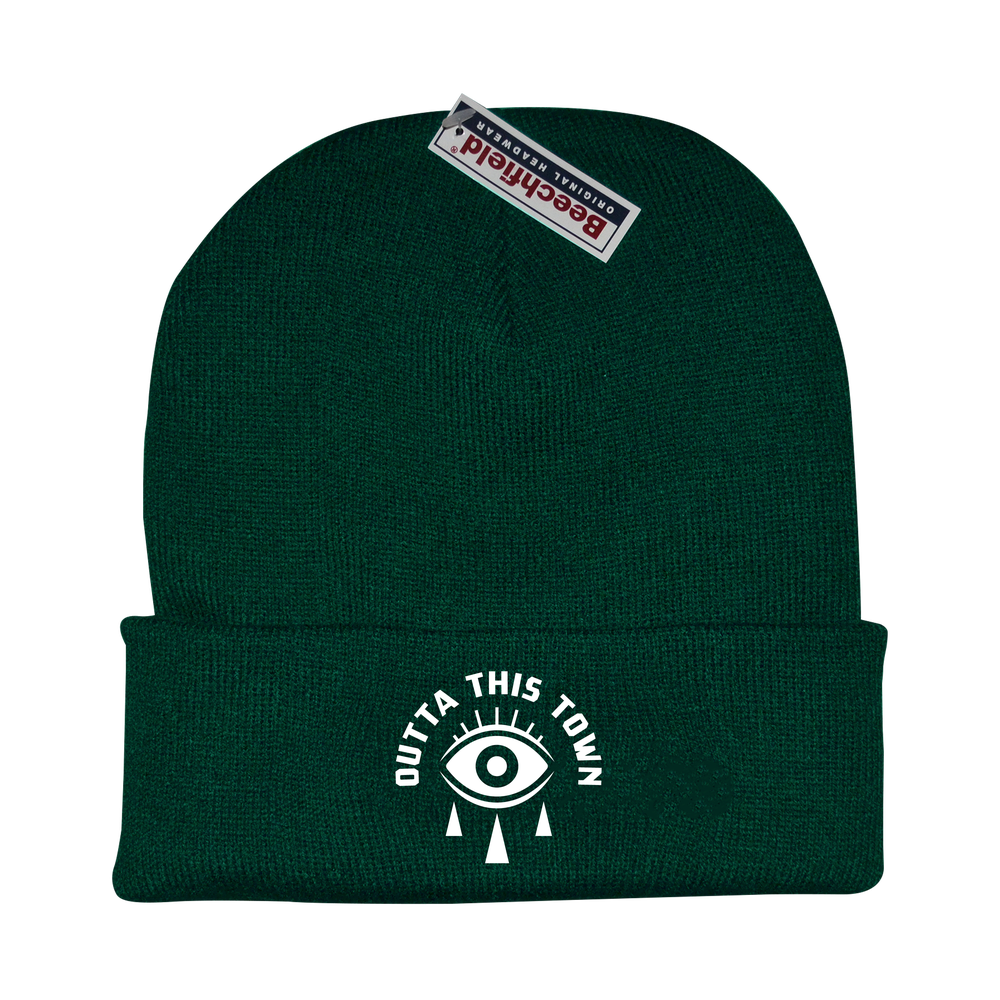 Image of Eye Beanie Bottle Green