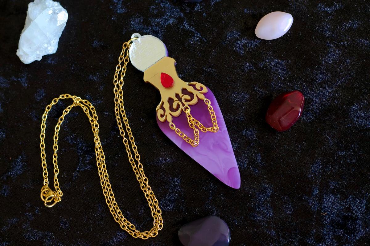 Image of Marbled Potion Bottle Pendant Necklace