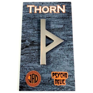 Image of Thorn Enamel Pin (Temporary Tattoo included)
