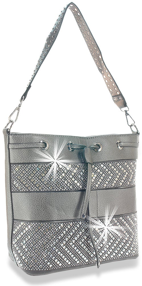 "Image of ""Sparkling"" Drawstring Hobo Purse"