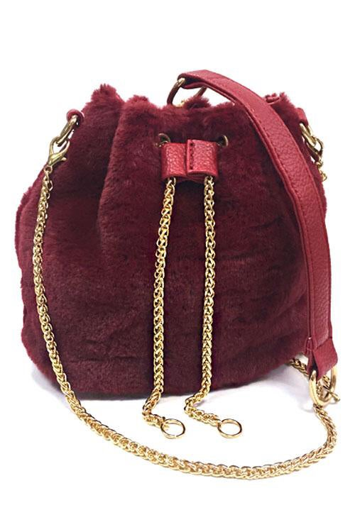 Image of Fur bucket bag