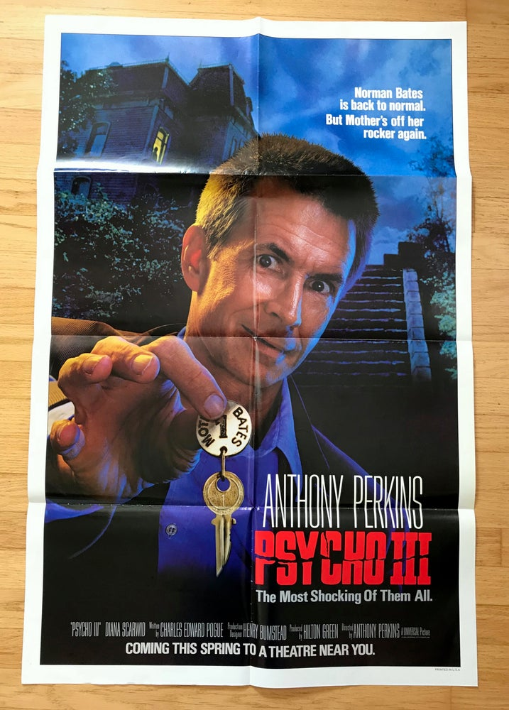 Image of 1985 PSCHO III Original U.S. One Sheet Movie Poster